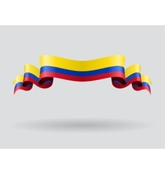Colombian wavy flag vector image