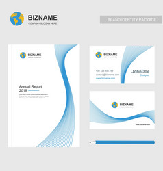 company brochure design and company card design vector image