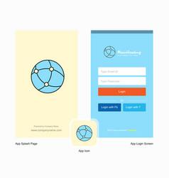 company global network splash screen and login vector image