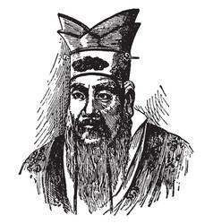 Confucius vintage vector
