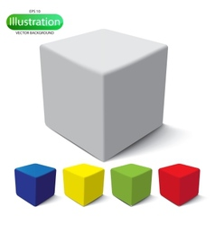 Cube on a white background vector image