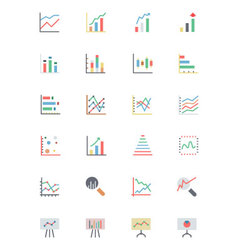 Data Analytics Colored Icons 2 vector