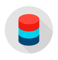 data server circle icon vector image