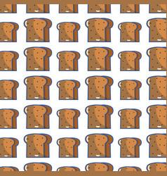 Delicious slice bread bakery food background vector