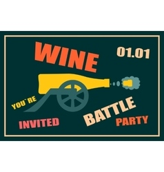 Design for wine event Wine battle party vector image