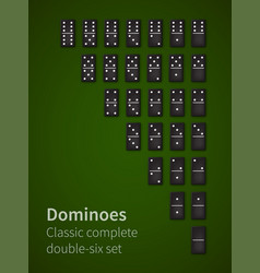 Dominoes bones set vector