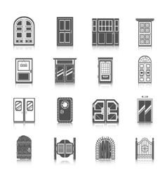 Door Icons Set vector image