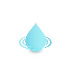 drop logo clean water sign blue droplet vector image