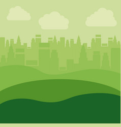 eco and green city design vector image