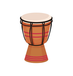 ethnic drum musical instrument vector image