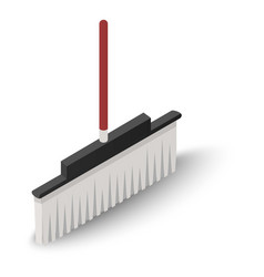 Floor broom icon isometric style vector