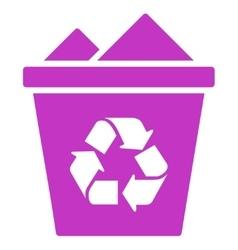 Full Recycle Bin Icon vector image