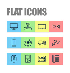 Gadget icons set collection of switch vector