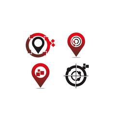 global positioning system set vector image