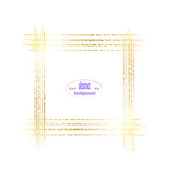 golden gradient frame on white background vector image