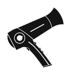Hairdryer flat icon black simple icon vector image