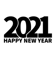 happy new year 2021 text design template vector image