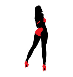 Hot sexy woman image vector