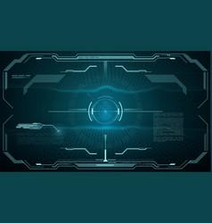 hud futuristic monitor screen target aim control vector image