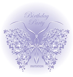 invitation design with butter vector image