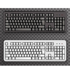 Keyboard Realistic Black White Icons Symbol vector