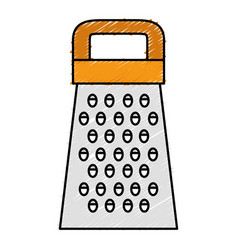 Kitchen grater isolated icon vector