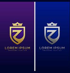 Luxury letter z concept design template vector