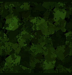military camouflage seamless pattern dark vector image