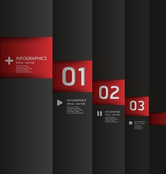 Modern design template used for number banner vector