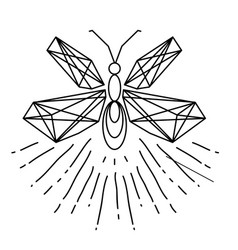 Modern firefly tattoo design image vector