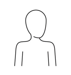 monochrome silhouette of human half body and vector image