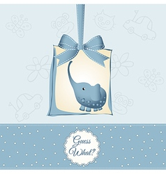 new baby boy announcement card vector image
