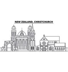 new zealand christchurch line skyline vector image