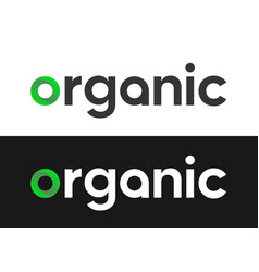 organic lettering label - logo for markets vector image