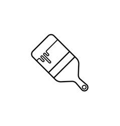 paint brush line icon build repair vector image