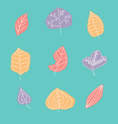 pattern with leaf abstract leaf textur vector image