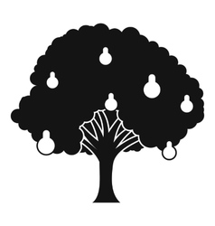 Pear tree with pears icon simple style vector