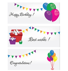 Postcard Happy Birthday vector image