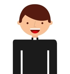 priest character isolated icon vector image