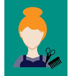 Profession people hairdresser Face female uniform vector image