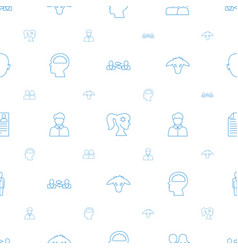 Profile icons pattern seamless white background vector