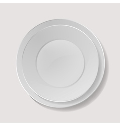 Realistic Plate Closeup Porcelain Mock Up vector