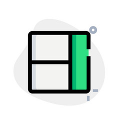 Right sidebar with left separated panel layout vector