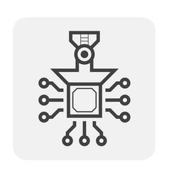 robot hand icon vector image