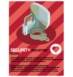 security color isometric poster vector image