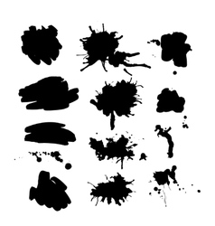 Set of ink spot vector image