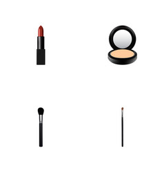 set of maquillage realistic symbols with brow vector image