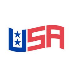 Set symbols usa letters usa flag united states vector