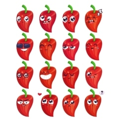 Smiles set of vegetables characters cute vector image