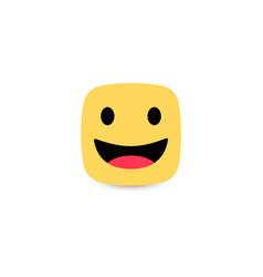 Square yellow smiley friendly emotion joyful vector